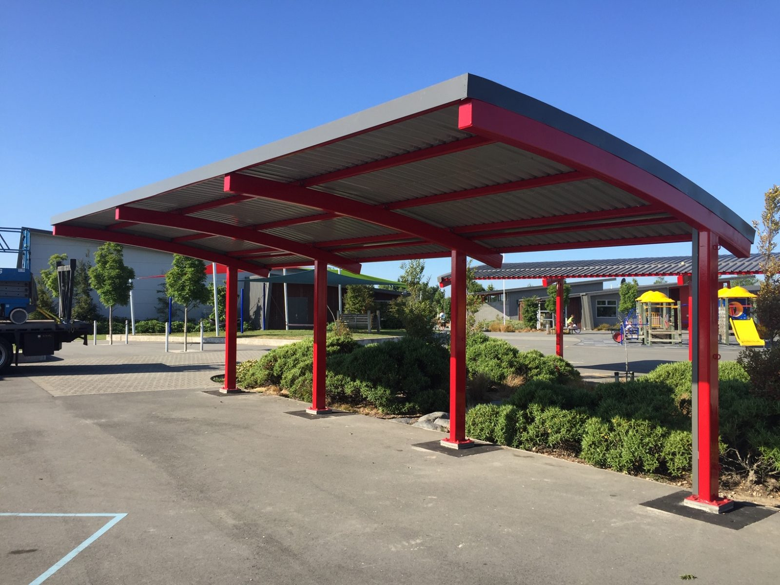 Rolleston School Steel Shelters
